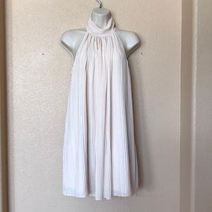 Dainty Hooligan Nude Pleated Babydoll Dress Small